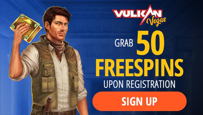 Vulkan Vegas Casino - Grab a 50 Free Spins Bonus upon Registration