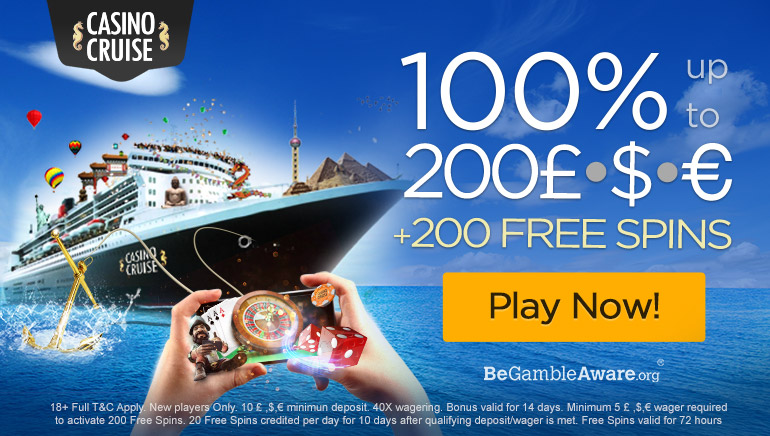 Set Sail With Casino Cruise NZD200 Welcome Bonus & 200 Free Spins