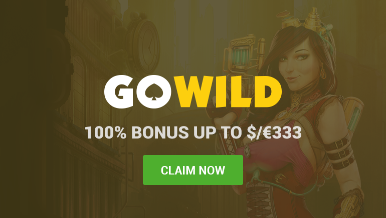 GoWild Casino Pops the Bubbly with 100% Welcome Bonus up to $333 on First Deposit