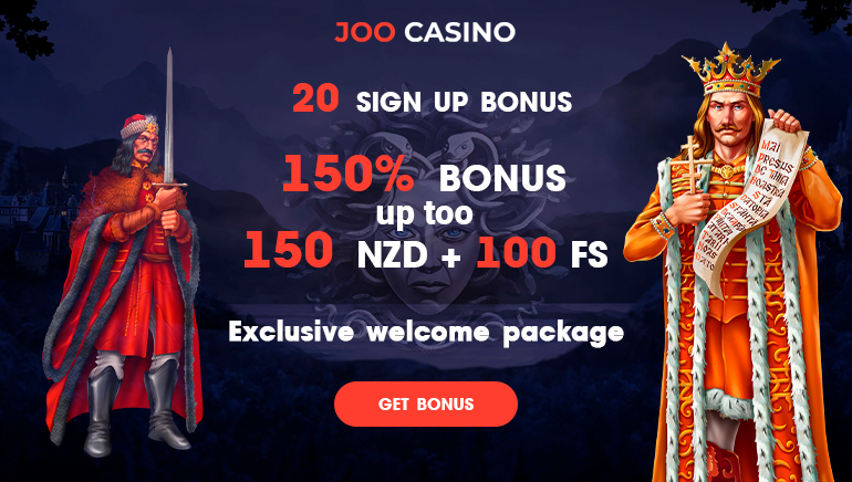 Grab 100 Free Spins And NZD150 At Joo Casino