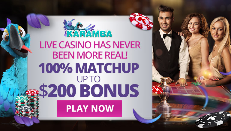 Take Advantage of Spectacular Welcome Bonus at Karamba's Live Casino