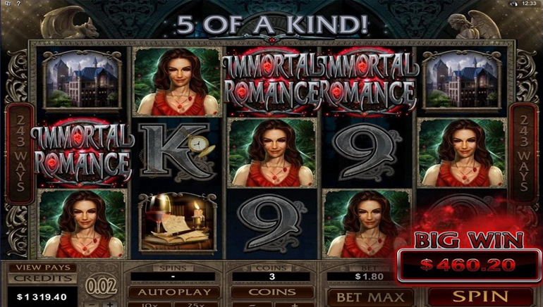Immortal Romance Launches at All Slots