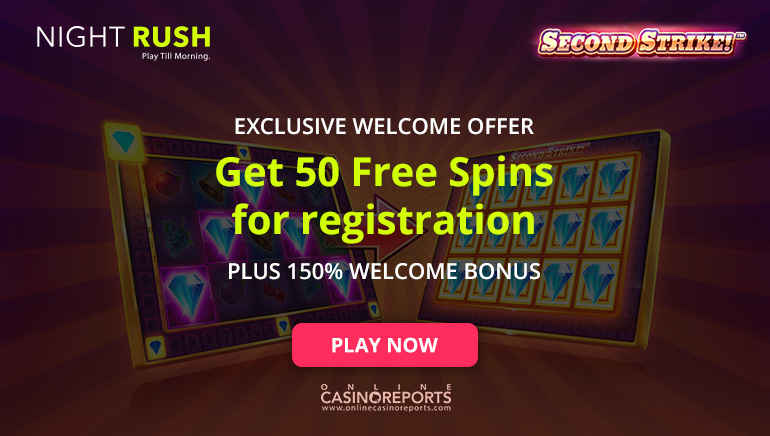NightRush Casino Is Rewarding New Players with 50 Free Spins