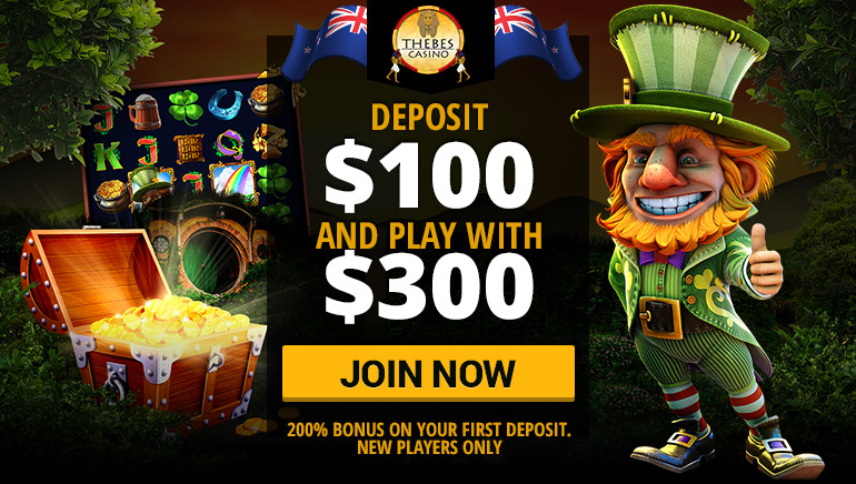 Get a 200% Welcome Bonus with Thebes Casino