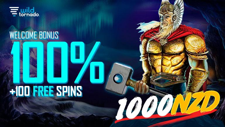 Wild Tornado Casino - 100% Welcome Bonus + 100 Free Spins